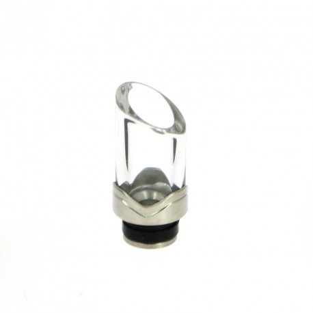 Drip Tip 510 Acier et verre