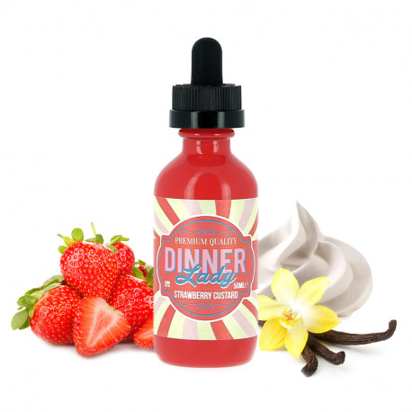 E-liquide Strawberry Custard 60ml par Vape Dinner Lady
