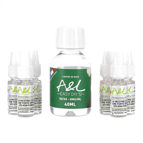Pack Base 100ml 12mg par A&L