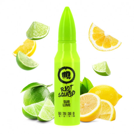 E-liquide Sub-Lime 50ml par Riot Squad