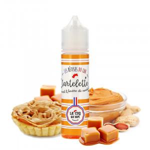 E-liquide Tartelette Caramel Beurre de Cacahuète 50ml par Le Coq Qui Vape