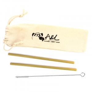 Set de 2 pailles en bambou A&L