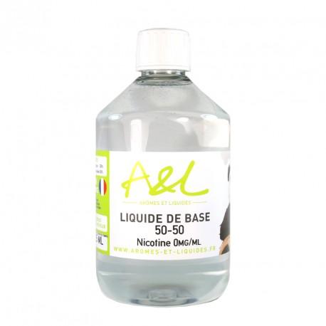 Liquide de base A&L 525ml Sans nicotine