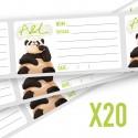 Etiquettes pour DIY (x20)