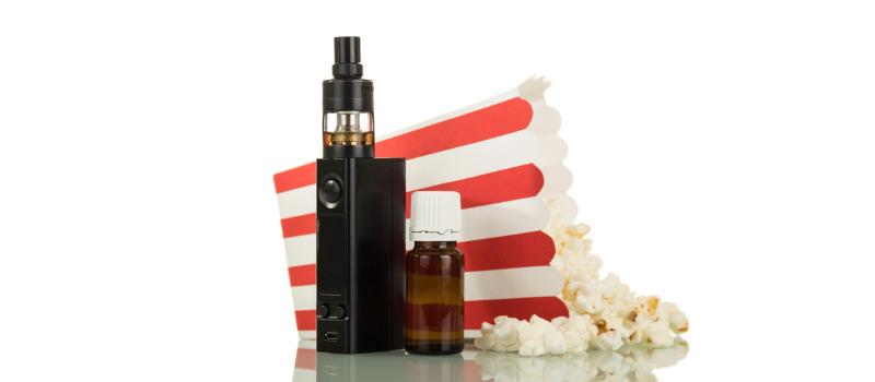 E-liquide pour cigarette électronique au popcorn avec diacétyle