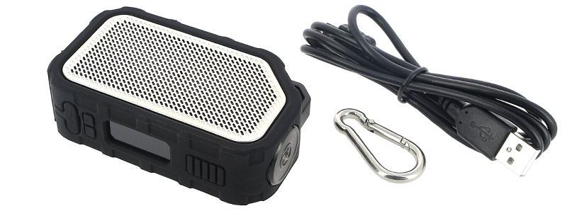 Le contenu de la boîte de la box Active Bluetooth Music par Wismec