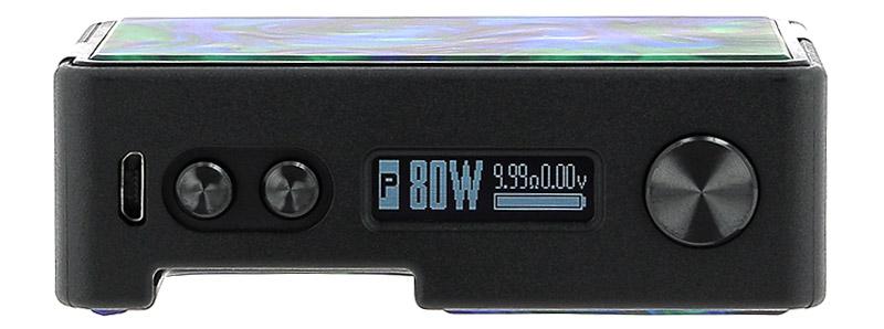 L'écran de la box Pulse BF 80W par Vandy Vape