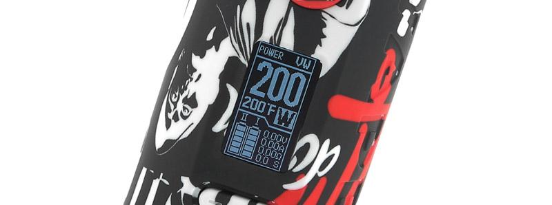 L'écran de la box Puma 200w par Vapor Storm
