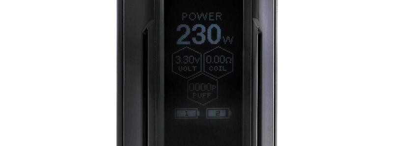 L'écran de la box Reuleaux RX GEN3 Dual par Wismec