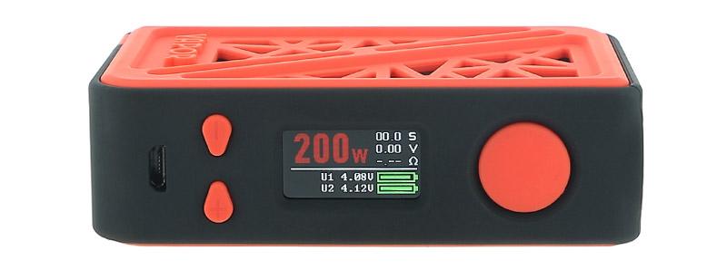 L'écran de la box Subverter 200w par Vapor Storm