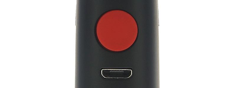 Le bouton de mise à feu et le port-USB du Kit Jynx par Craving Vapor
