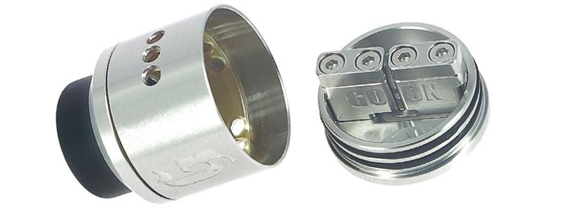 Le plateau de montage du dripper Goon 25 par 528 Custom Vapes