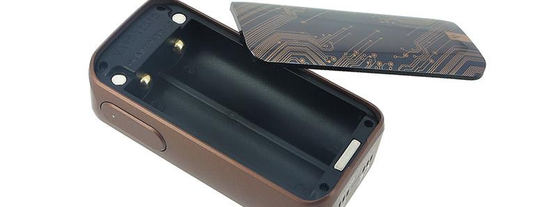 Le compartiment à accus de la box Luxe 220w par Vaporesso