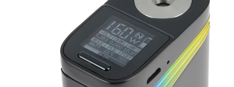 L'écran de la box V-Fin par Smoktech