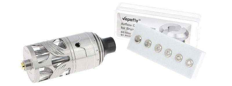Les arrivées d'air de l'atomiseur Brunhilde MTL 23mm par Vapefly