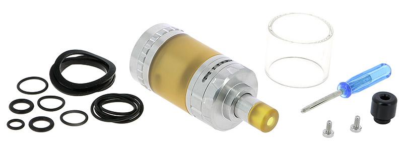 Le contenu de la boîte de l'atomiseur Expromizer V4 RTA par Exvape