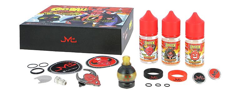 Le contenu de la boîte du Go Ball Mini MTL Collector Pack par Fumytech