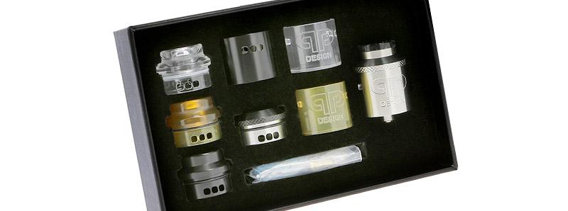 Le Dripper Kali V2 et ses accessoires de personnalisation par QP Design