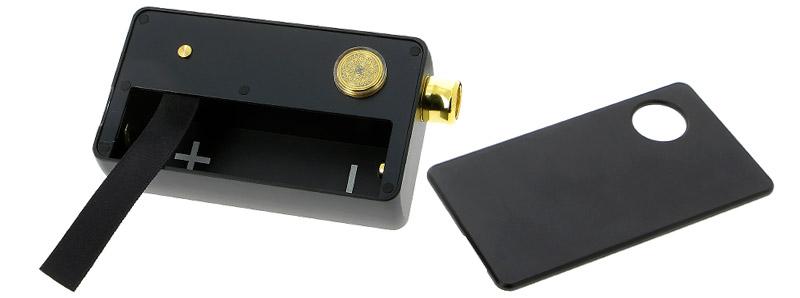 Les boutons de réglage et le logement de l'accu du Kit DotAIO par Dotmod