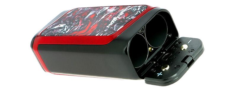 Le compartiment à accus du kit Morph 219 TFV Mini V2 par Smoktech
