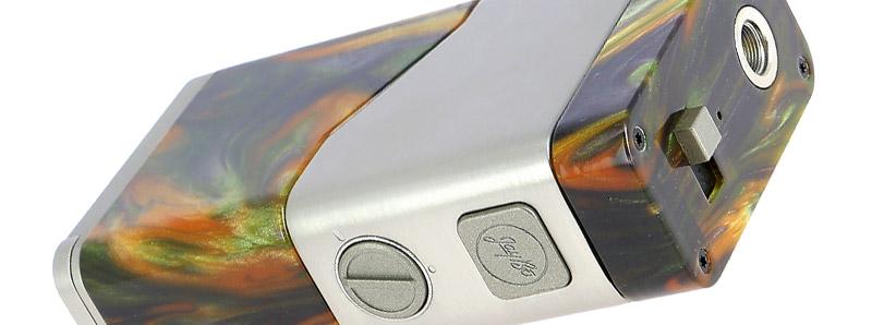 Le potentiomètre et le sélecteur de la box Luxotic NC par Wismec