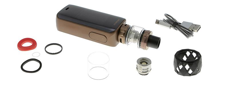 Le contenu de la boîte du kit Luxe 220w SKRR S par Vaporesso