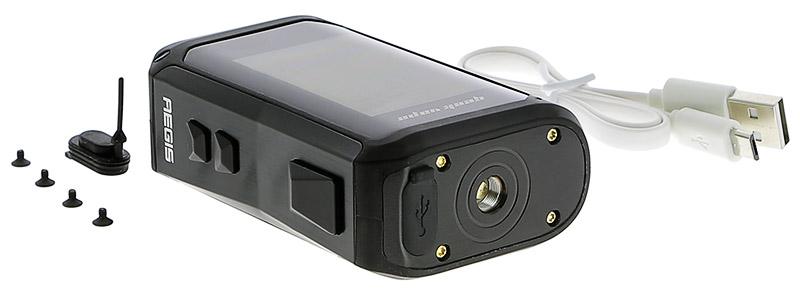 El contenido de la caja Aegis X 200w de Geek Vape