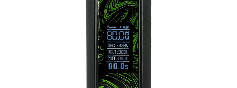 L'écran de la box Cube X 80w par OBS