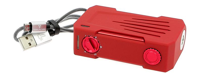 Le contenu de la boîte de la box Invader 4X 280w par Teslacigs