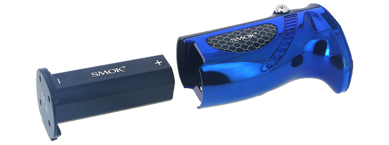 Le compartiment à accu de la box Mag Grip par Smoktech