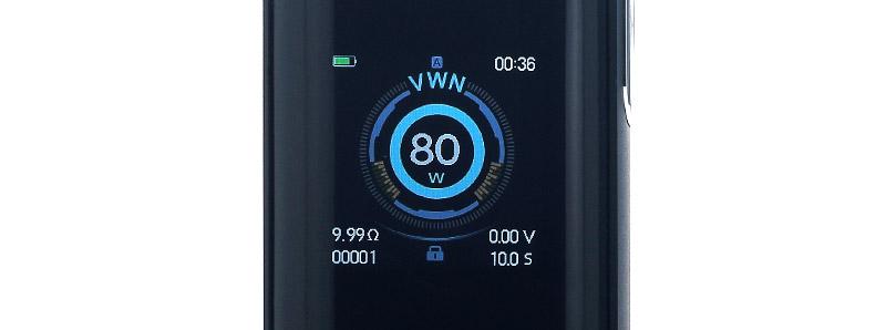 L'écran de la box Luxe Nano par Vaporesso