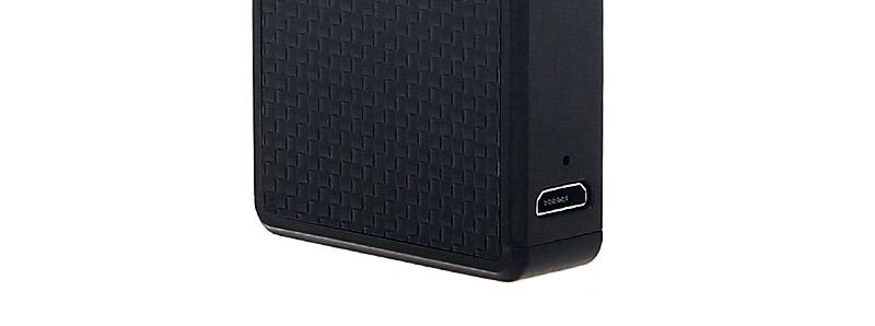 El puerto micro-USB del pod Orion Q de Lost Vape