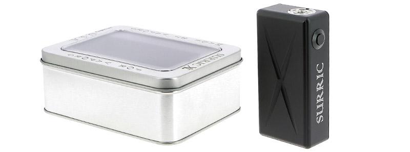 Le contenu de la boîte de la box Surric XT SE par Surric Vapes