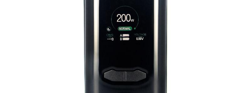 L'écran de la box VX200 par Augvape