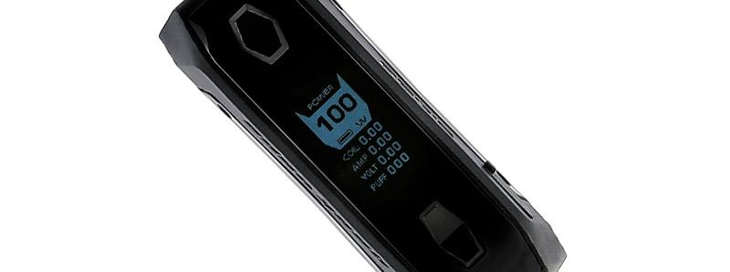 L'écran de la box Aegis Solo 100w par Geek Vape