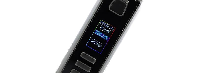 L'écran TFT couleur de la box AUXO DNA 250C par Thinkvape