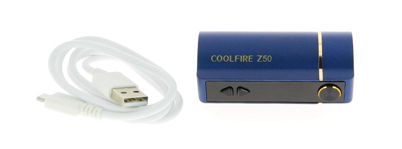 Le contenu de la boîte de la box CoolFire Z50 par Innokin