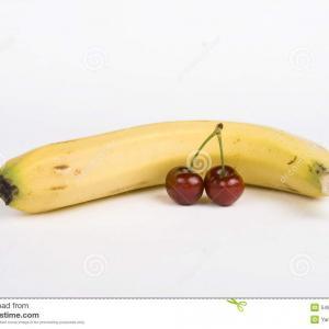 custard banane cerise